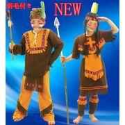 ヘア飾り付きNEW!NEW! 野蛮人 インディアン風 大人用 舞台衣装 シスター風