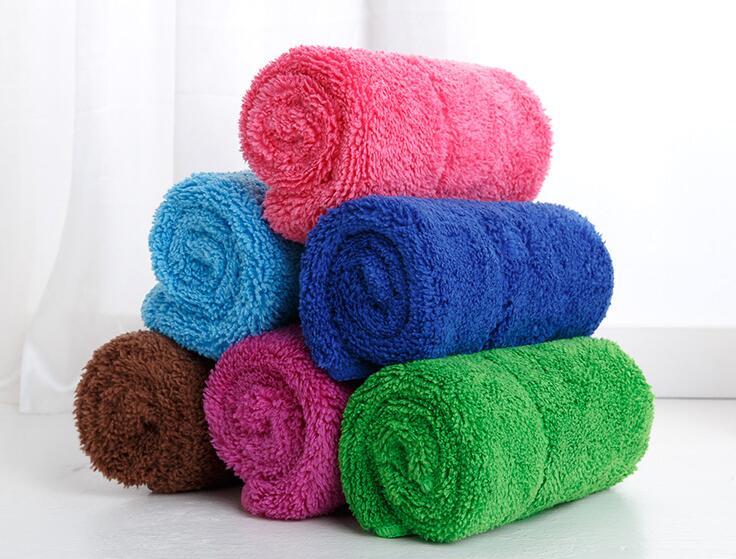 雑巾 タオル 吸水 お掃除 無地 二つサイズ選択可 全6色 水拭き 日用雑貨