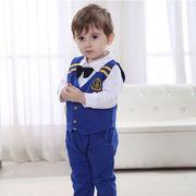 激安!80-90-100-110セット★ベビー★幼児★ネクタイ★紳士★キャプテン★ベスト+シャツ+ズボン
