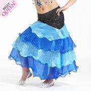 激安!ベリーダンス衣装◆子供◆インドダンス◆ドット柄◆ティアードスカート◆スカート