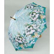 【お仕入れ10000円で送料無料♪♪】【ジャンプ傘】ゴッホ ホワイトフラワー