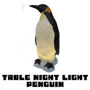ポリストーン製テーブルナイトライト ペンギン