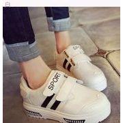 韓国風★ベルクロ★白★スケートボード★運動★白い靴★フラット女性★靴★カジュアルシューズ