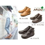 【Mooi! Feminine】 MF323 本革 サイド リング アンクルブーツ[16FW model] 全3色 レディース