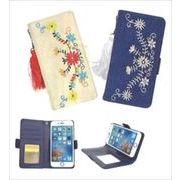 超売れ筋!トレンドの花柄刺繍 IPhone6・7ケース ヒッピー