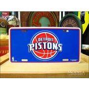 ライセンスプレート NBA DETROIT PISTONS