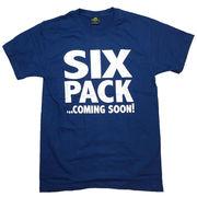 シックスパック Tシャツ 半袖 紺 ネイビー L 腹筋 筋トレ