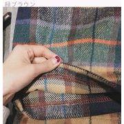新しいデザイン★ルース★着やせ★大型ポケット★羊毛の★ワンピース★学生★T-ストラップ