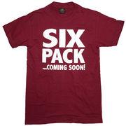 シックスパック Tシャツ 半袖 赤紫 ワイン XL 腹筋 筋トレ