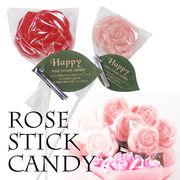 【薔薇/おしゃれ/雑貨】ローズスティックキャンディー/飴/かわいい/贈り物/プチギフト/配り物/花/フラワー
