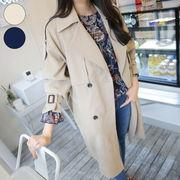 韓国 韓国ファッション アウター トレンチコート レディース ロング ベージュ 春 コート トレンチ