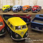 【1963 VW Bus Double Cab Pickup (Delivery) 1:34(M)】ダイキャストミニカー12台セット★