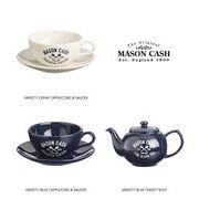 【イギリス雑貨】MASON CASH(メイソンキャッシュ):ヴァーシティ カプチーノカップ&ソーサー