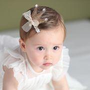 ダイヤモンド帝冠 ヘアピン 赤ちゃん キッズ ベビー ヘアアクセサリー リボン 髪飾り ドレス小物 全3色
