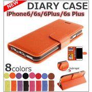 【iPhone6/6s/6Plus/6s Plus】ケース 手帳型 かわいい 皮 革 人気 ストラップ 二つ折り 横開き カード収納