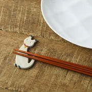 ネコの箸置き 白猫[美濃焼]