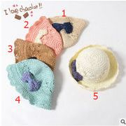 ★大人気★ キッズファッション&帽子★草編み帽子 5色