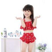 水着 女の子 キッズ 子供服 可愛い スイミング セパレート 上下セット ショーパン2点セット