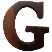 クレエ アルファベットオブジェ アカシアウッドレター G