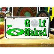 ライセンスプレート ゴルフは裸です