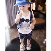 韓国風★新しいスタイル★キッズファション★キッズ男の子セットアップ★2点セット パンツ+シャツ