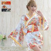【再入荷】0030サテン和柄花魁ミニ着物ドレス  和柄 衣装 ダンス よさこい 花魁 コスプレ キャバドレス