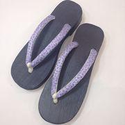 人気商品【激安 】女性用  ゆかた下駄 紫(フリーサイズ)まとめ買い割引有ります。