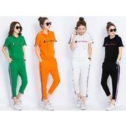 2017★お買得&レディース2枚セット カジュアル Tシャツ  ズボン  全4色 june-sde-6638