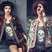 初回送料無料 2017 民族風 刺繍 ジャケット 大人気 全2色 Cjqqy-1706b534 真夏 新作