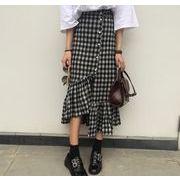 2017♪NEW海外セレブ愛用チェック柄 フレア裾 スカート  june-pip-3240