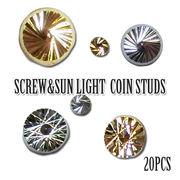 【スクリュー サンライト】コイン メタルパーツ 20個