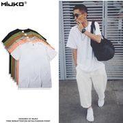 メンズ Tシャツ 半袖 クルーネック トップス コットン カジュアル シンプル 春 夏 全6色