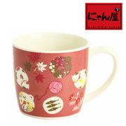 「にゃん屋」★鈴猫マグカップ (1個箱入り)