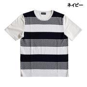 ★売れ筋★再値下げ【2017春夏】前身頃ニット切替 Tシャツ