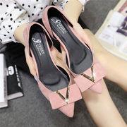 ★シューズ新作★パンプス シンプル ファッション ローヒール レディース 靴 3色