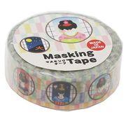 《新学期》インバウンド マスキングテープ 15mm マステ/舞妓2 市松パステル
