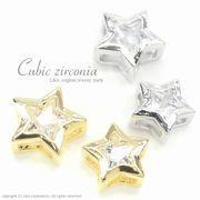 """★L&A Original★Cubic zirconia★ゴールド&シルバー★スターチャーム♪154 """"Cubic Star"""""""