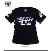 ★人気アメコミ「ルーニーテューンズ」のトゥイーティーとシルベスターを両袖にプリントしたロゴTシャツ★