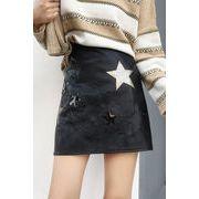 初秋 新しいデザイン 女性服 スター 刺しゅう ハイウエスト 着やせ 着やせ 学生パック