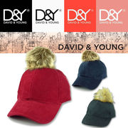 D&Y Corduroy cap w/detachable fauxfurpom   15194