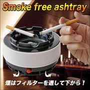 煙を強力吸引 煙を吸い取って広げない 周りにやさしい灰皿 ◇ スモークフリー灰皿