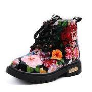 【子供靴】★可愛いデザインの子供靴&★冬の靴 暖かい★花柄★子供ブーズ★2色 サイズ21-30