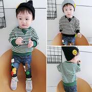 男児 秋服 セーター 児童 韓国風 トップス 女児 赤ちゃん ストライプス 新しいデザイ