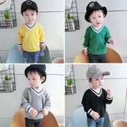 赤ちゃん セーター 韓国風 児童 セーター 男児 ヘッジ ニット 春秋服 新しいデザイン