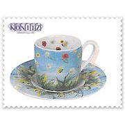 【ドイツ雑貨】KONITZ(コーニッツ) Flower Eddy エスプレッソカップ&ソーサー