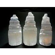 【天然石】【聖母マリアのガラス】セレナイト原石タワー モロッコ産