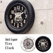アンティーク タイヤ クロック 【壁掛時計】