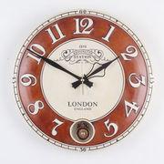 チェルシーラウンドホール振り子時計(中)-ブラウン