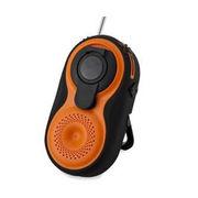BL108RMDOR ヤザワ 手回し・USB充電式 電池が不要!AM/FMシャワーラジオ