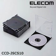 ELECOM(�G���R��) Blu-ray/DVD/CD�P�[�X�i�X����/PS/1����[�j CCD-JSCS10BK
